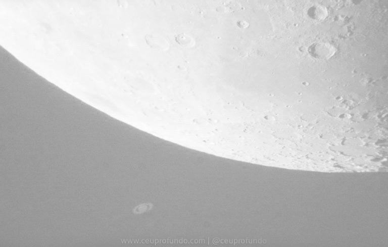 Saturno Surgindo Lua